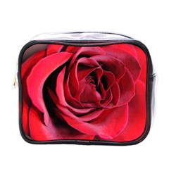 An Open Rose Mini Travel Toiletry Bag (one Side) by bloomingvinedesign