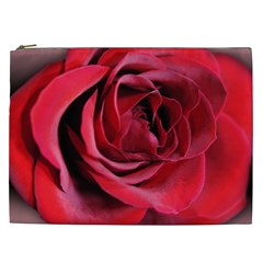 An Open Rose Cosmetic Bag (xxl) by bloomingvinedesign