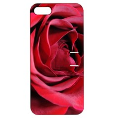 An Open Rose Apple Iphone 5 Hardshell Case With Stand by bloomingvinedesign