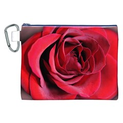 An Open Rose Canvas Cosmetic Bag (xxl) by bloomingvinedesign