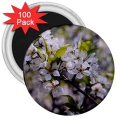 Apple Blossoms 3  Button Magnet (100 pack) by bloomingvinedesign