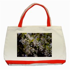 Apple Blossoms Classic Tote Bag (red) by bloomingvinedesign