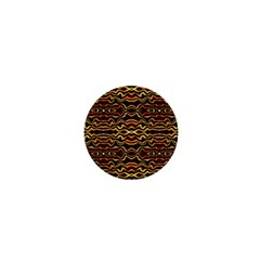 Tribal Art Abstract Pattern 1  Mini Button by dflcprints