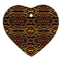Tribal Art Abstract Pattern Heart Ornament by dflcprints
