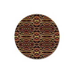 Tribal Art Abstract Pattern Magnet 3  (round) by dflcprints
