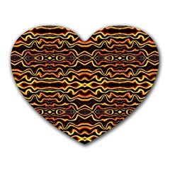 Tribal Art Abstract Pattern Mouse Pad (heart) by dflcprints