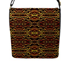 Tribal Art Abstract Pattern Flap Closure Messenger Bag (large) by dflcprints