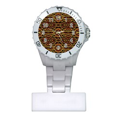 Tribal Art Abstract Pattern Nurses Watch