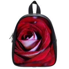 Red Rose Center School Bag (Small) by bloomingvinedesign