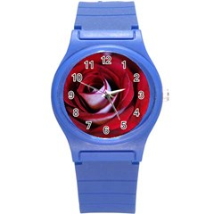 Red Rose Center Plastic Sport Watch (small) by bloomingvinedesign