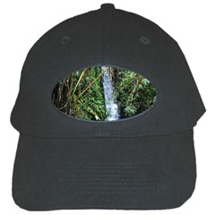 Bamboo Waterfall Black Baseball Cap by bloomingvinedesign