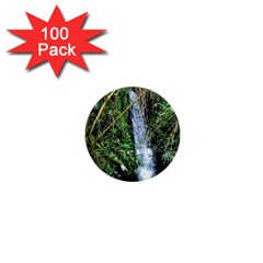Bamboo Waterfall 1  Mini Button (100 Pack) by bloomingvinedesign