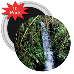 Bamboo Waterfall 3  Button Magnet (10 Pack) by bloomingvinedesign