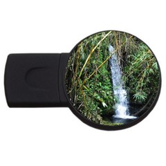 Bamboo Waterfall 4gb Usb Flash Drive (round) by bloomingvinedesign