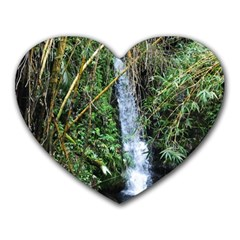 Bamboo Waterfall Mouse Pad (heart) by bloomingvinedesign