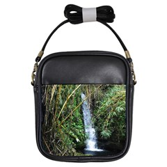 Bamboo Waterfall Girl s Sling Bag by bloomingvinedesign