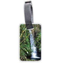 Bamboo Waterfall Luggage Tag (two Sides) by bloomingvinedesign