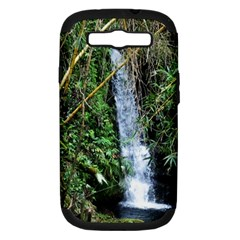 Bamboo Waterfall Samsung Galaxy S Iii Hardshell Case (pc+silicone) by bloomingvinedesign