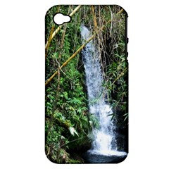 Bamboo Waterfall Apple Iphone 4/4s Hardshell Case (pc+silicone) by bloomingvinedesign