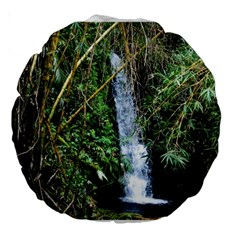 Bamboo Waterfall 18  Premium Round Cushion  by bloomingvinedesign