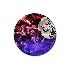 Bokeh Bats In Moonlight Magnet 3  (round) by bloomingvinedesign