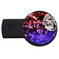 Bokeh Bats in Moonlight 1GB USB Flash Drive (Round) by bloomingvinedesign