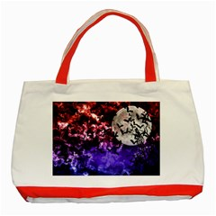 Bokeh Bats In Moonlight Classic Tote Bag (red) by bloomingvinedesign