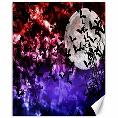 Bokeh Bats In Moonlight Canvas 16  X 20  (unframed) by bloomingvinedesign