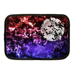 Bokeh Bats In Moonlight Netbook Sleeve (medium) by bloomingvinedesign