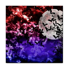 Bokeh Bats In Moonlight Face Towel by bloomingvinedesign