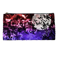 Bokeh Bats In Moonlight Pencil Case by bloomingvinedesign