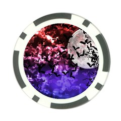 Bokeh Bats In Moonlight Poker Chip (10 Pack) by bloomingvinedesign