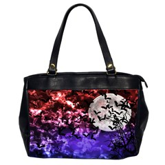 Bokeh Bats In Moonlight Oversize Office Handbag (two Sides) by bloomingvinedesign