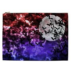 Bokeh Bats In Moonlight Cosmetic Bag (xxl) by bloomingvinedesign