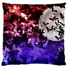 Bokeh Bats In Moonlight Large Flano Cushion Case (two Sides) by bloomingvinedesign
