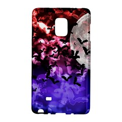 Bokeh Bats In Moonlight Samsung Galaxy Note Edge Hardshell Case by bloomingvinedesign