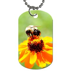 Bee On A Flower Dog Tag (two Sided)  by bloomingvinedesign