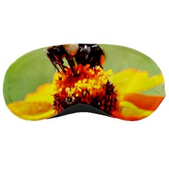 Bee On A Flower Sleeping Mask by bloomingvinedesign