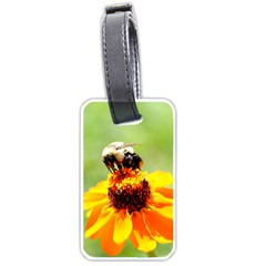 Bee On A Flower Luggage Tag (two Sides) by bloomingvinedesign