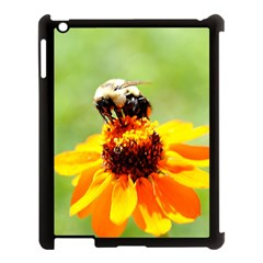 Bee On A Flower Apple Ipad 3/4 Case (black) by bloomingvinedesign