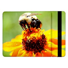 Bee On A Flower Samsung Galaxy Tab Pro 12 2  Flip Case by bloomingvinedesign