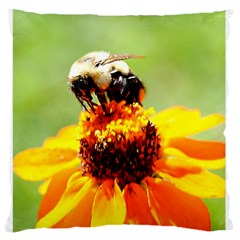 Bee On A Flower Standard Flano Cushion Case (two Sides) by bloomingvinedesign