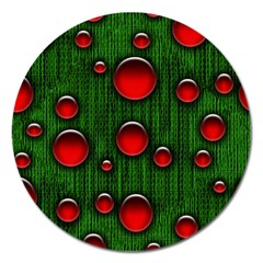 Geek Binary Digital Christmas Magnet 5  (round) by bloomingvinedesign