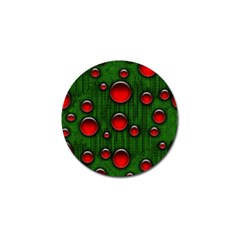 Geek Binary Digital Christmas Golf Ball Marker by bloomingvinedesign