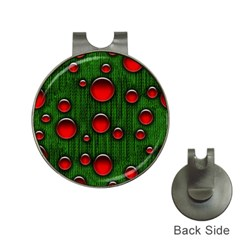 Geek Binary Digital Christmas Hat Clip With Golf Ball Marker by bloomingvinedesign