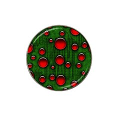 Geek Binary Digital Christmas Golf Ball Marker (for Hat Clip) by bloomingvinedesign