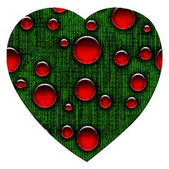 Geek Binary Digital Christmas Jigsaw Puzzle (heart) by bloomingvinedesign