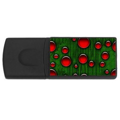 Geek Binary Digital Christmas 4gb Usb Flash Drive (rectangle) by bloomingvinedesign