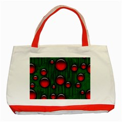 Geek Binary Digital Christmas Classic Tote Bag (red) by bloomingvinedesign