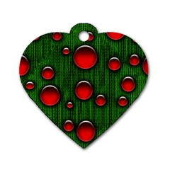 Geek Binary Digital Christmas Dog Tag Heart (two Sided) by bloomingvinedesign